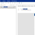 1und1 Webmail: Posteingang